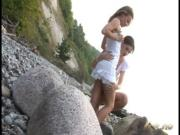 Лесбияночки пляжницы