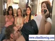 Девушке лижут киску на глазах у подруги