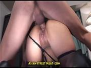 Азиатка любит в попку