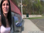 Парень трахнул девушку на улице за деньги