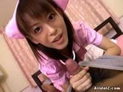 Азиатская медсестра любит дрочить