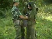 Поймали и выебали бабу в лесу