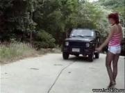 Подцепил шлюху на дороге